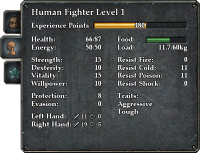 Legend of Grimrock Character Guide - Attributes and Stats