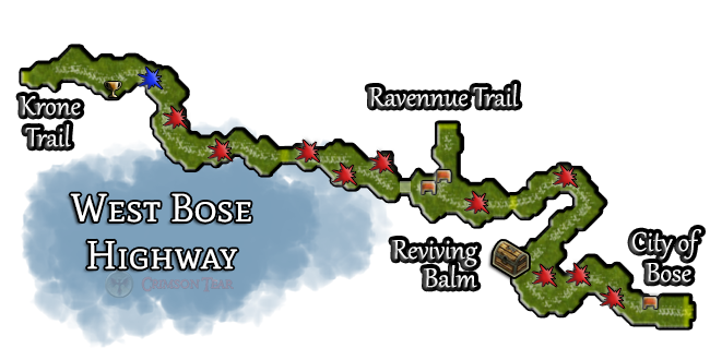 West Bose Highway Map