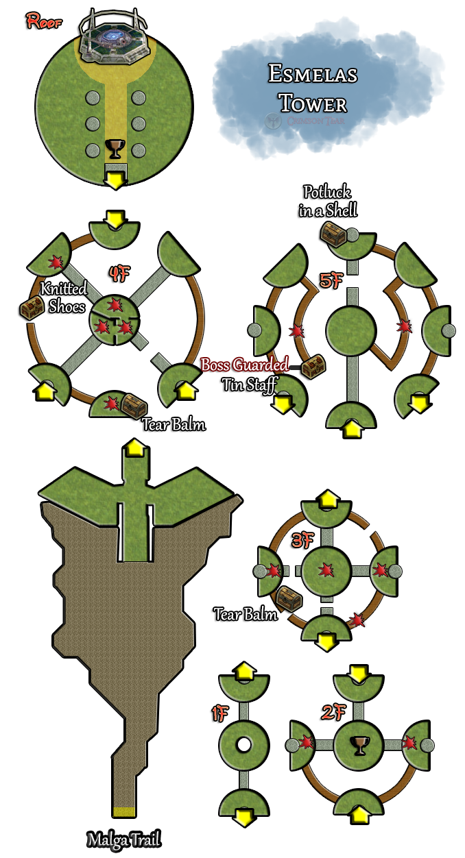 Esmelas Tower Locations Maps Trails In The Sky Game Guide Crimson Tear