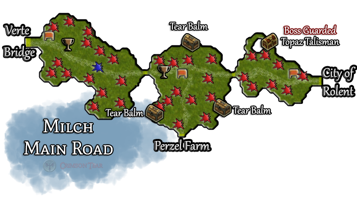 Milch Main Road Map