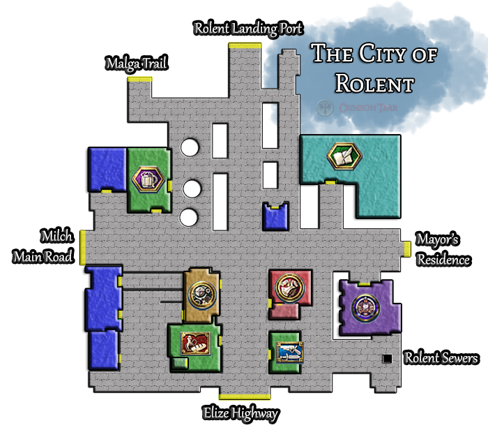 Map of the City of Rolent